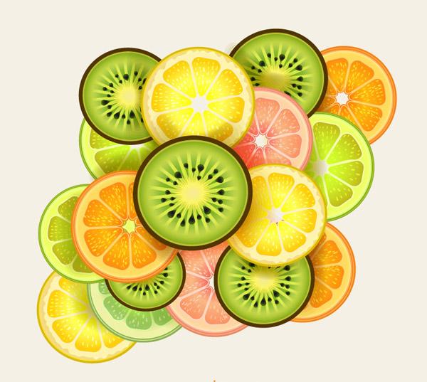 新鲜水果切片