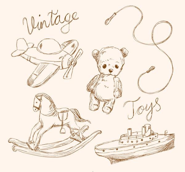 复古手绘玩具