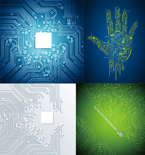 科技电路板背景
