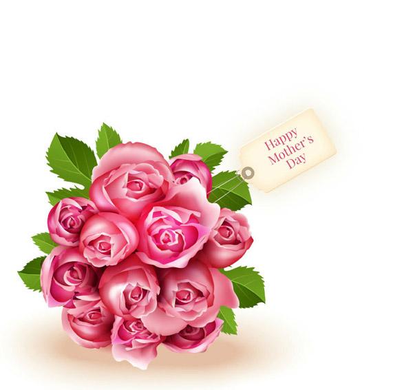 母亲节玫瑰花束