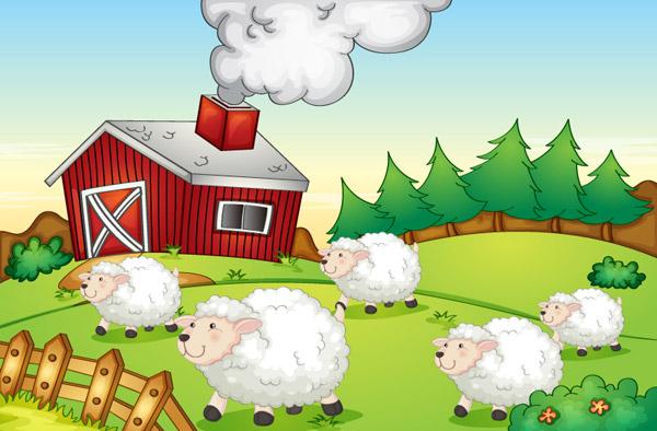 卡通农场绵羊群
