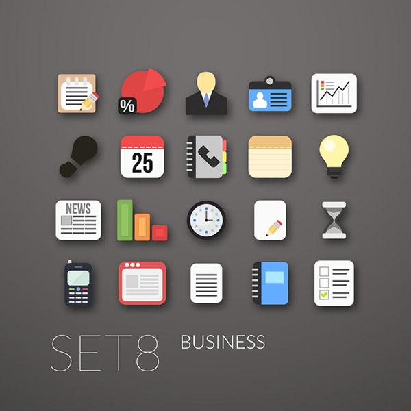 0 点 关键词: 办公商务扁平化图标矢量素材,饼形图,联系人,电话图标