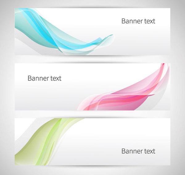 曲线装饰banner