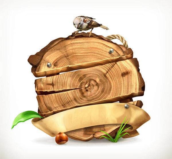 木桩招牌上的
