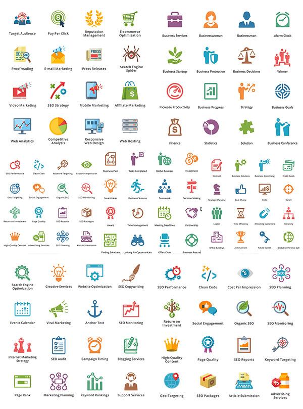 素材分类: 矢量各式图标所需点数: 0 点 关键词: 时尚商务图标设计