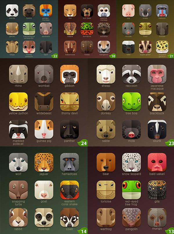手机动物图标
