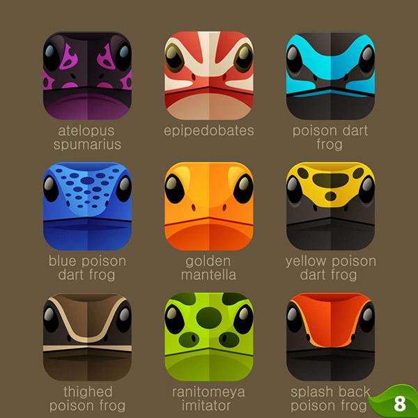 0 点 关键词: 时尚手机变色龙图标素材,卡通,动物,头像,app图标,变色