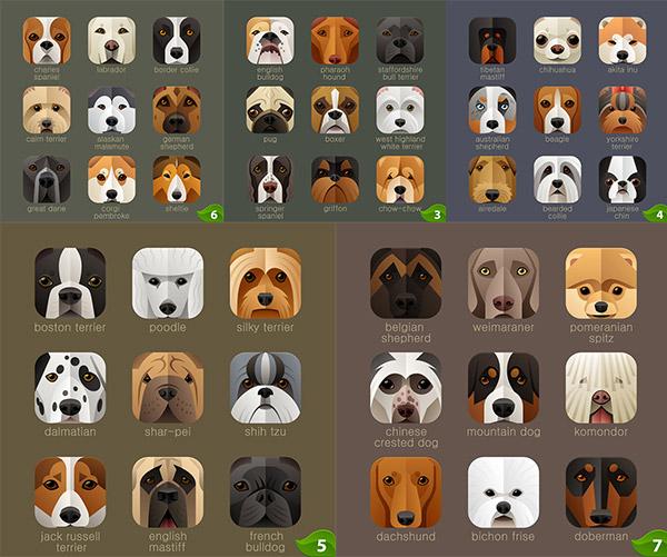 0 点 关键词: 手机狗狗图标设计素材,卡通,动物,头像,app图标,小狗