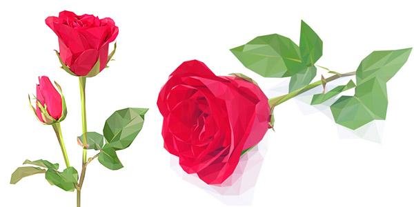 素材分类: 矢量花草树木所需点数: 0 点 关键词: 美丽的几何玫瑰花