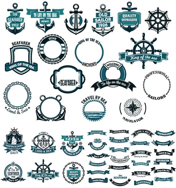 矢量复古航海地图