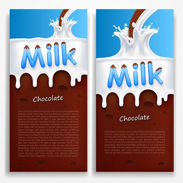 素材分类: 平面广告所需点数: 0 点 关键词: 牛奶巧克力广告矢量素材图片
