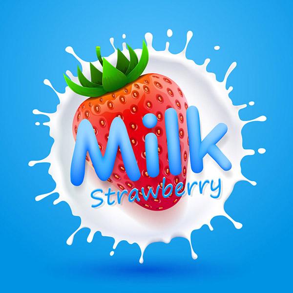 矢量设计元素所需点数: 0 点 关键词: 美味的奶油草莓设计矢量素材