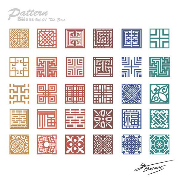 传统古典雕花图案设计矢量素材,传统图案,古典花纹,中国风,雕花,福字图片