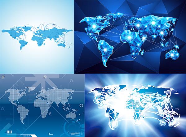 科技与世界地图_素材中国sccnn.com