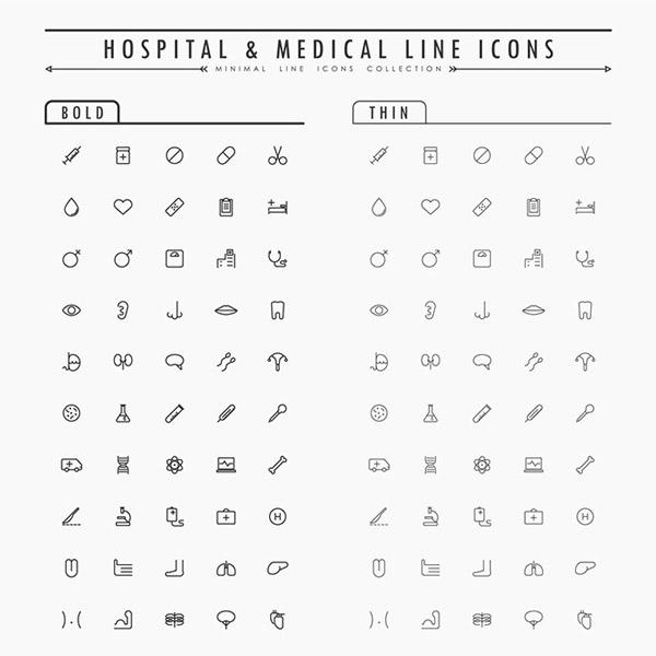 简约医疗图标