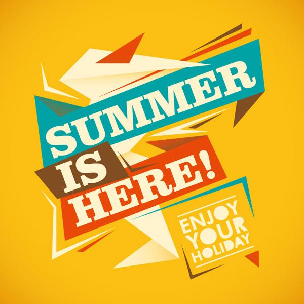 夏季字体海报