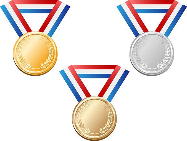 奖牌设计矢量素材,奖牌