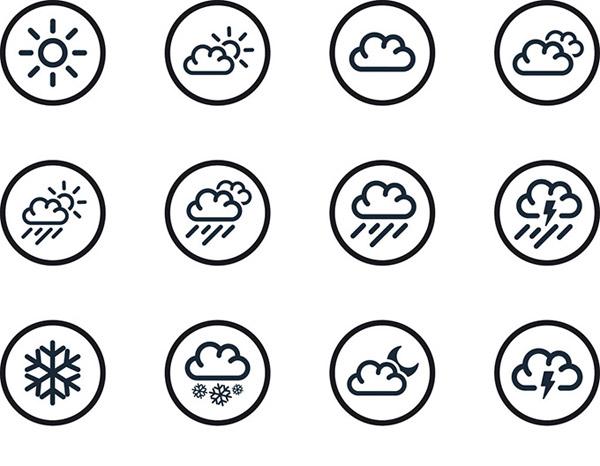 0 点 关键词: 精美天气预报图标设计矢量素材,天气预报,简约图标
