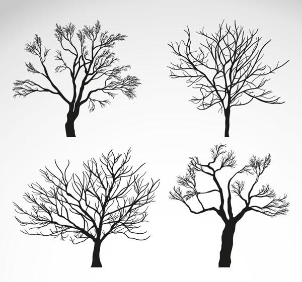 春天树木简笔画步骤