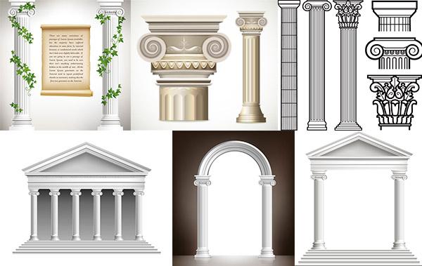 古罗马柱子设计图片
