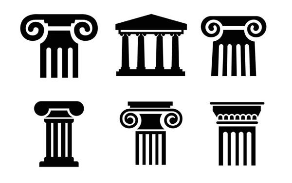 黑色罗马柱图片