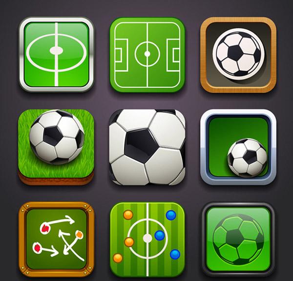 时尚足球图标设计矢量素材