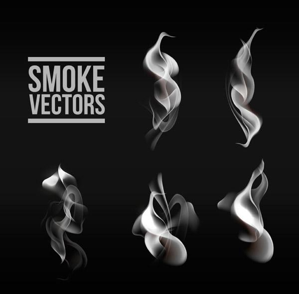 烟雾设计矢量