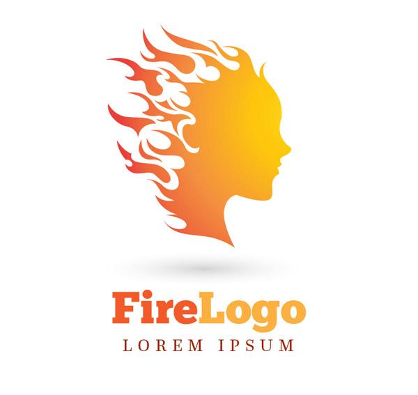 素材分类: 矢量logo图形所需点数: 0 点 关键词: 火焰女子头像标志