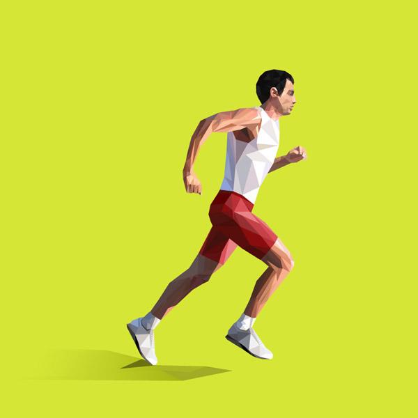 跑步优美风景图片