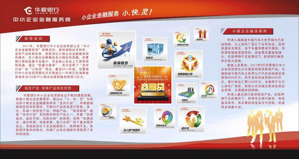 银行展板,华夏银行,银行标志