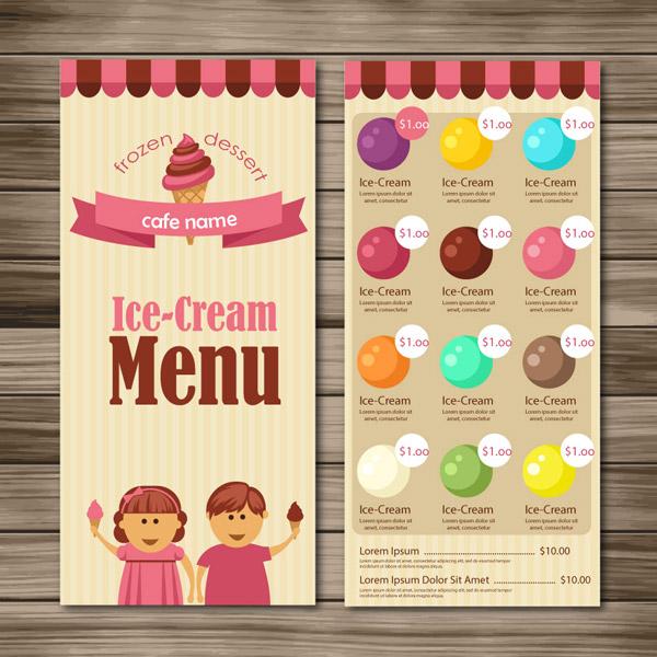 冰淇淋点菜单图片