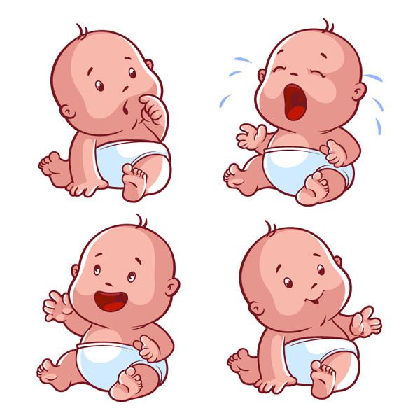 0 点 关键词: 可爱婴儿设计矢量素材下载,婴儿,尿布,哭泣,表情,疑惑图片