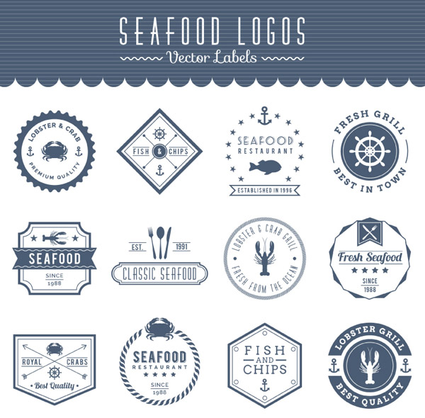 素材分类: label矢量所需点数: 0 点 关键词: 海洋食品海鲜标签矢量