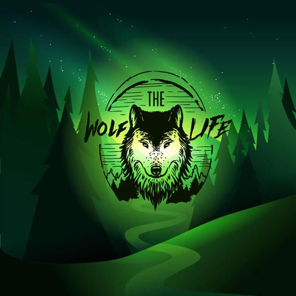 关键词: 狼标志山谷风景矢量素材下载,夜晚,森林,山谷,狼,标志,风景