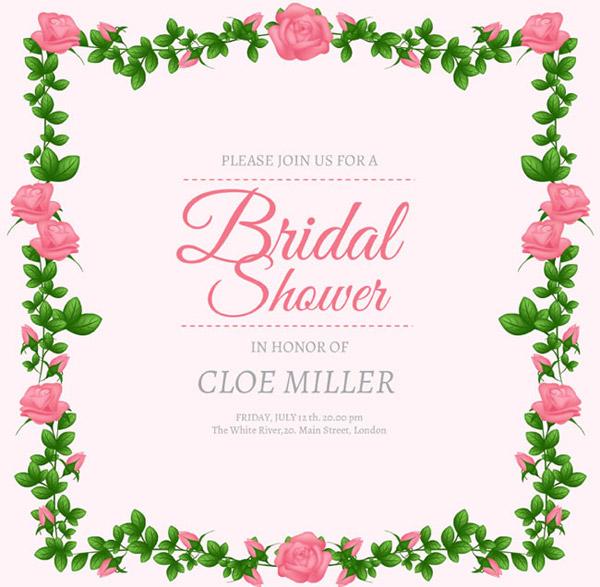 婚礼,玫瑰,边框,新娘送礼会
