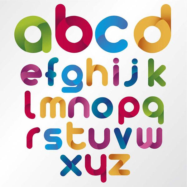 卡通字体,英文字体,创意字母