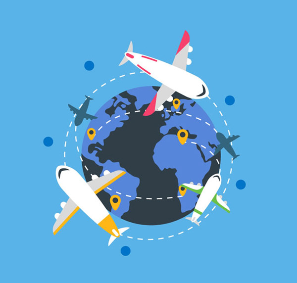 绕地球飞行的飞机_素材中国sccnn.com