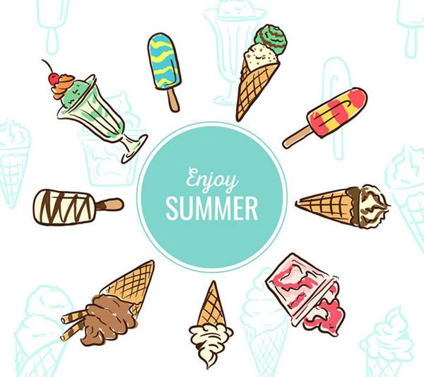 夏季手绘图片大全