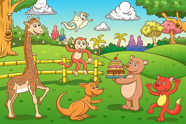 0 点 关键词: 可爱的卡通动物园矢量素材,儿童插画,长颈鹿,卡通熊