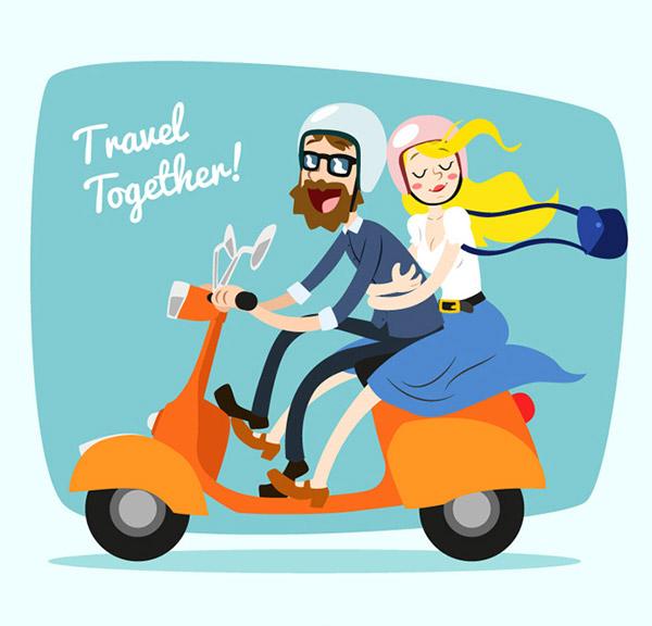 电动车,男子,女子,摩托车