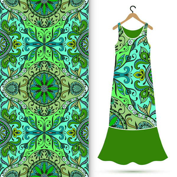 古典花纹服装图案
