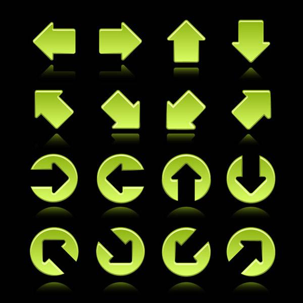 绿色箭头图标矢量素材下载