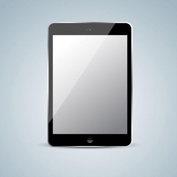 黑色ipad平板电脑设计矢量素材