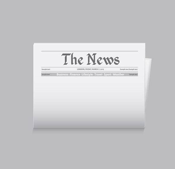 矢量设计元素所需点数: 0 点 关键词: 空白新闻报纸头条矢量素材下载