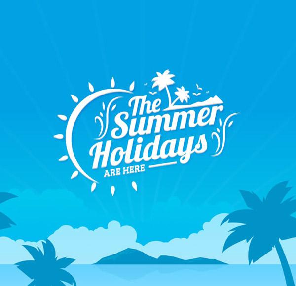 夏季沙滩海报矢量素材下载,大海,海鸥,岛屿,夏季,沙滩,椰子树,海报,s
