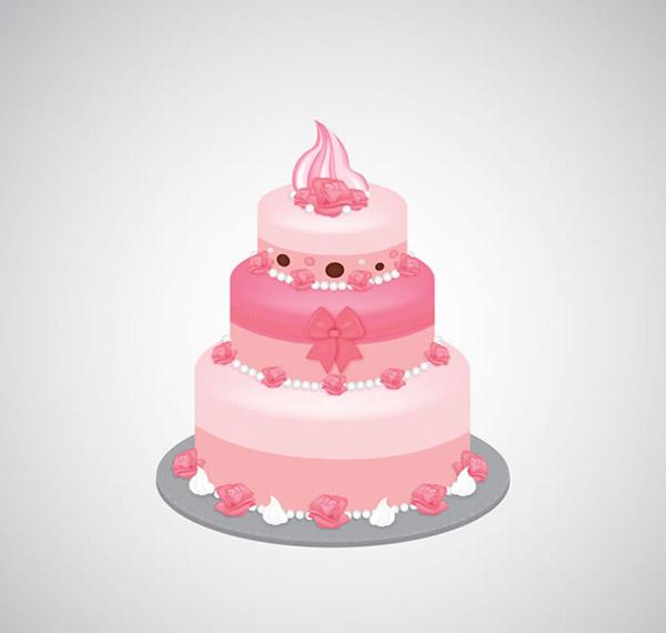 粉色三层蛋糕_素材中国sccnn.com