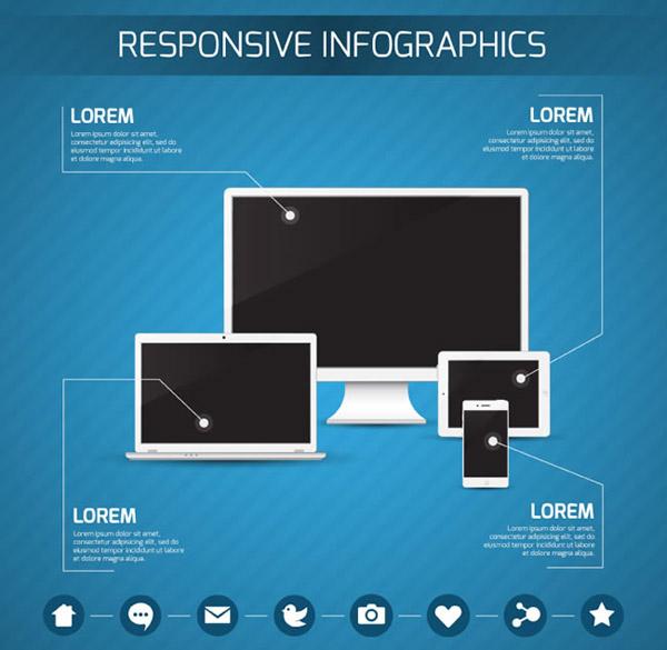 时尚数码产品商务信息图矢量素材下载
