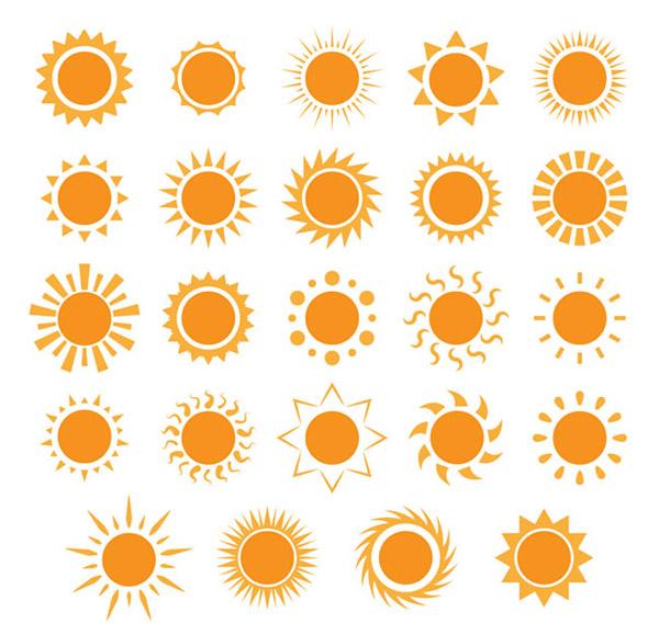 太阳图标矢量