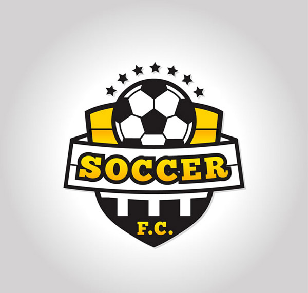 足球队标志矢量图片