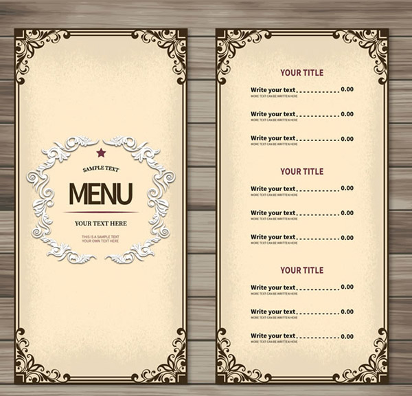 素材分类: 平面广告所需点数: 0 点 关键词: 简约餐厅菜单设计矢量